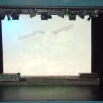 The 'Frankenstein' set on Opening Night