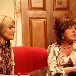 Sinead Luke as Polly and Rachel O'Connor as Evy