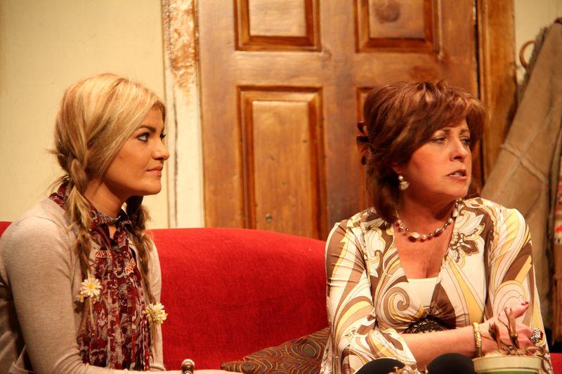 Sinead Luke as Polly and Rachel O'Connor as Evy
